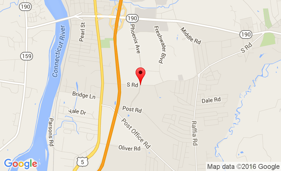 Google Map of 99 Phoenix Ave, Enfield, CT 06082